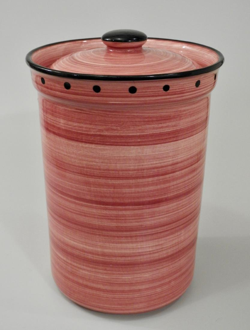 Large Pink English Container Ulster Ceramics Cookware