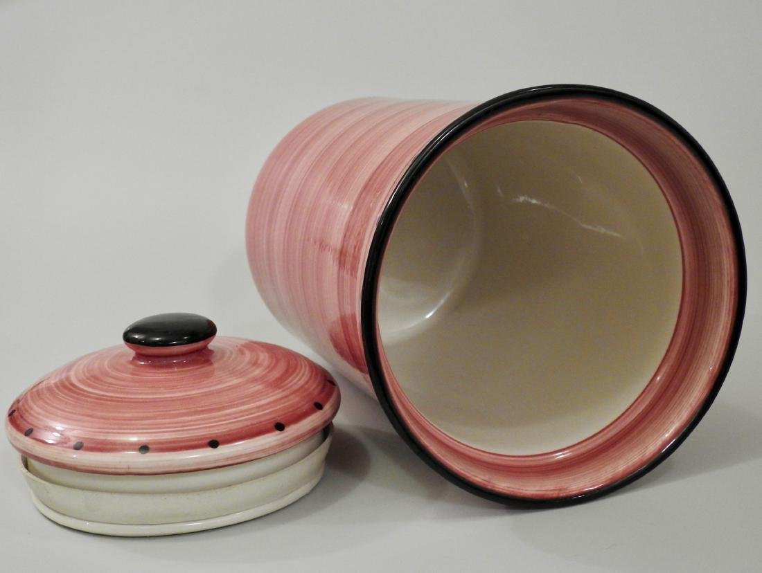 Large Pink English Container Ulster Ceramics Cookware - 2