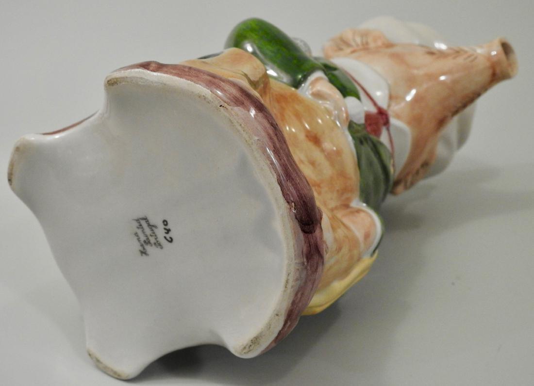 Figural Pig Wine Jug Pitcher - 5