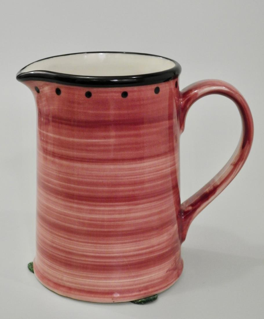 English Milk Jug Small Pink Pitcher by Ulster Ceramics