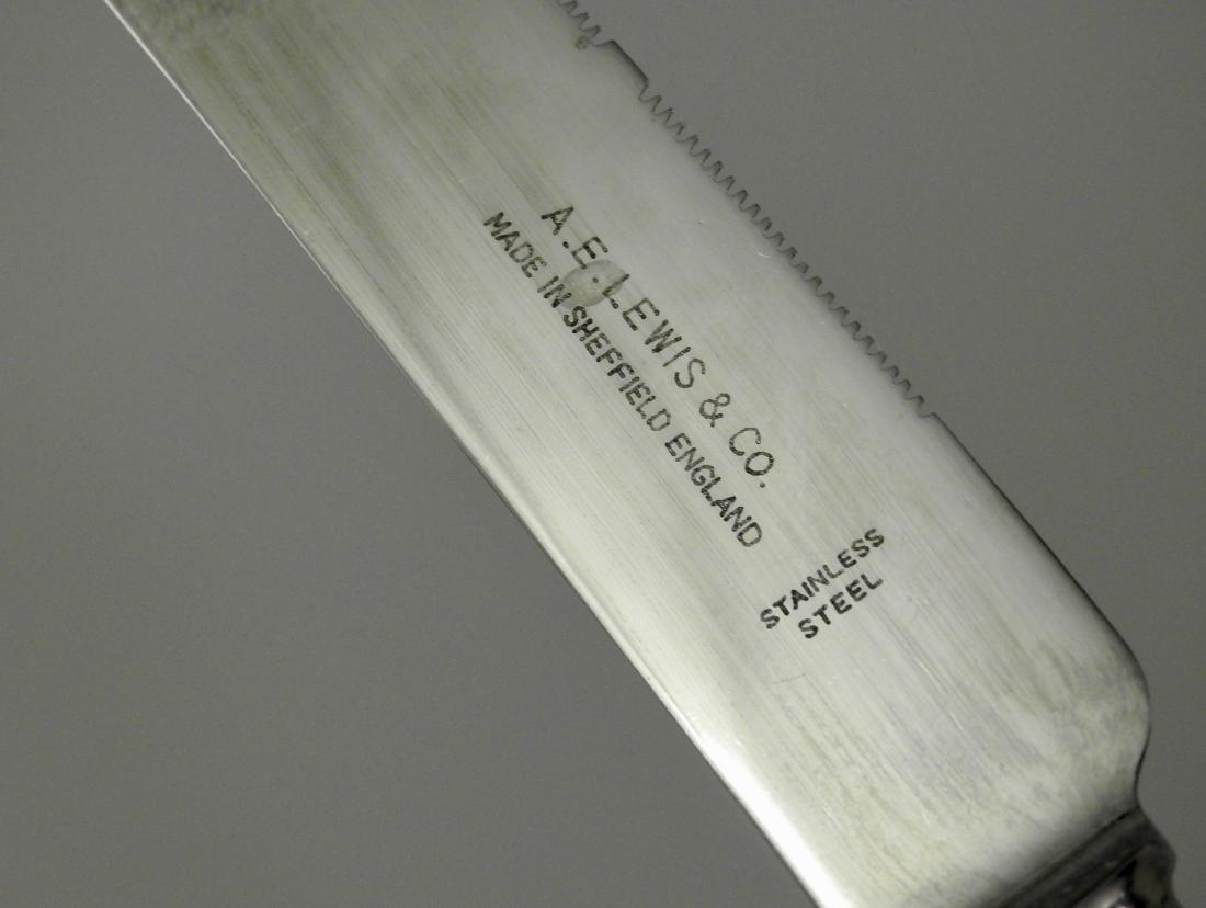 Sheffield Steel Porcelain Handle Carving Knife Lewis - 4