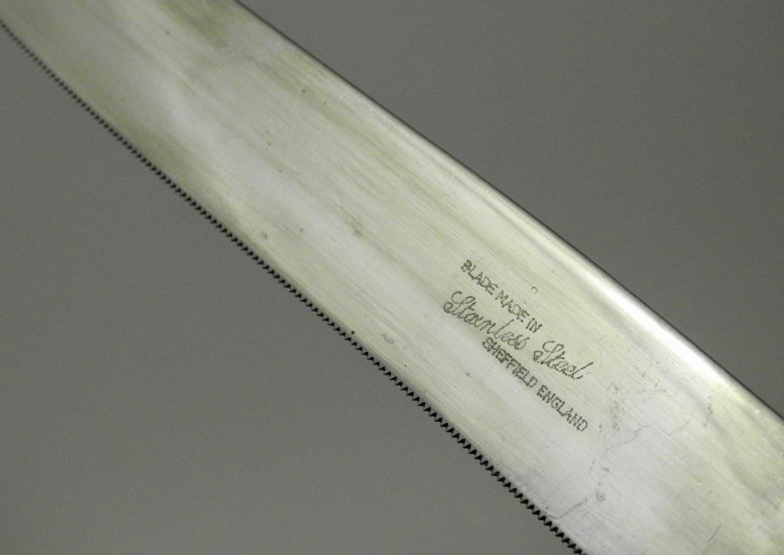 Porcelain Handle Carving Knife Stainless Sheffield - 4