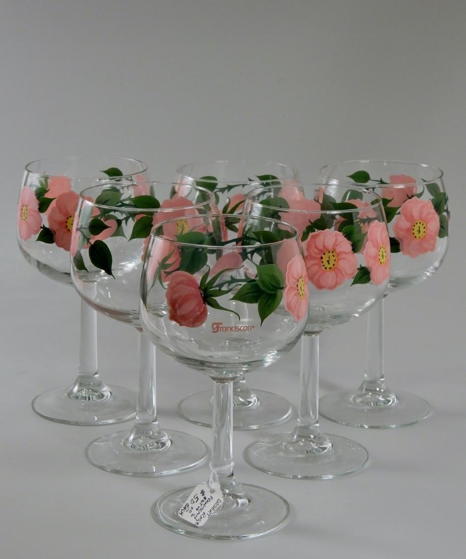 Franciscan Wine Goblets Desert Rose 12 oz Stem Glasses