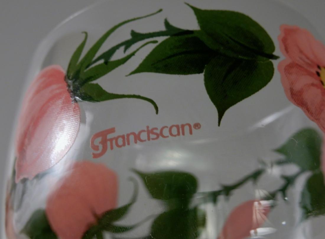 Franciscan Wine Goblets Desert Rose 12 oz Stem Glasses - 5
