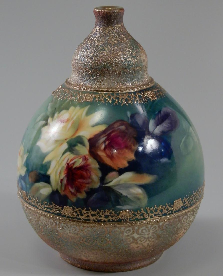 Antique Gold Moriage Painted Royal Bonn Porcelain Vase