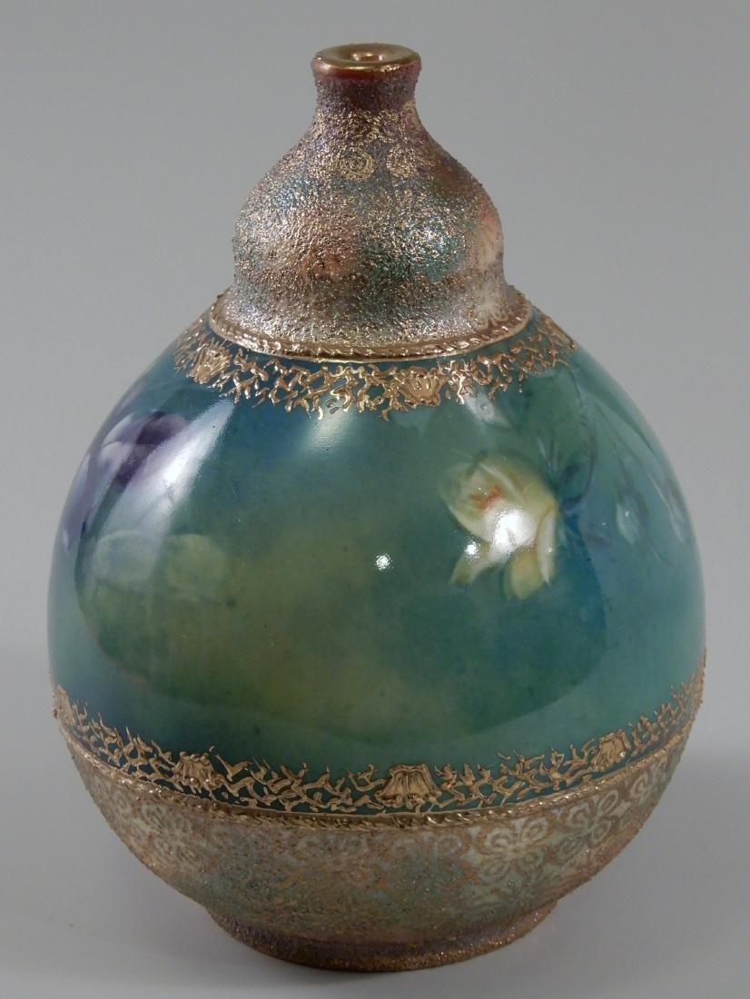 Antique Gold Moriage Painted Royal Bonn Porcelain Vase - 2