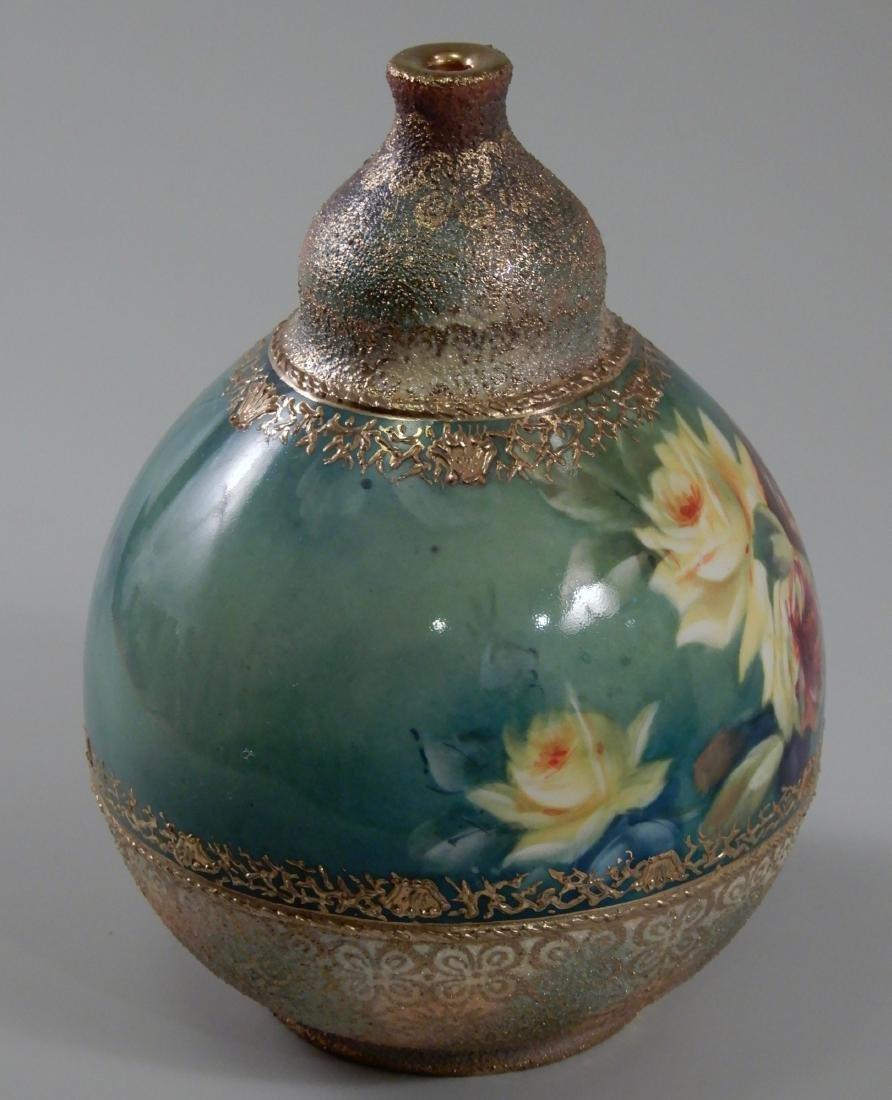 Antique Gold Moriage Painted Royal Bonn Porcelain Vase - 3