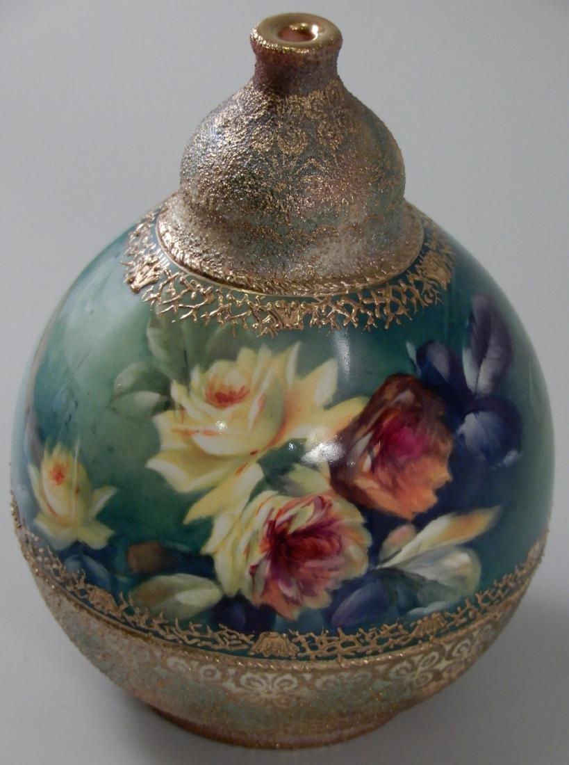 Antique Gold Moriage Painted Royal Bonn Porcelain Vase - 6