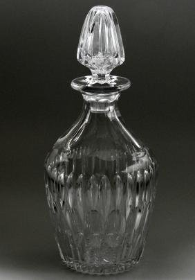 Quality Vintage Optical Glass Crystal Spirit Decanter