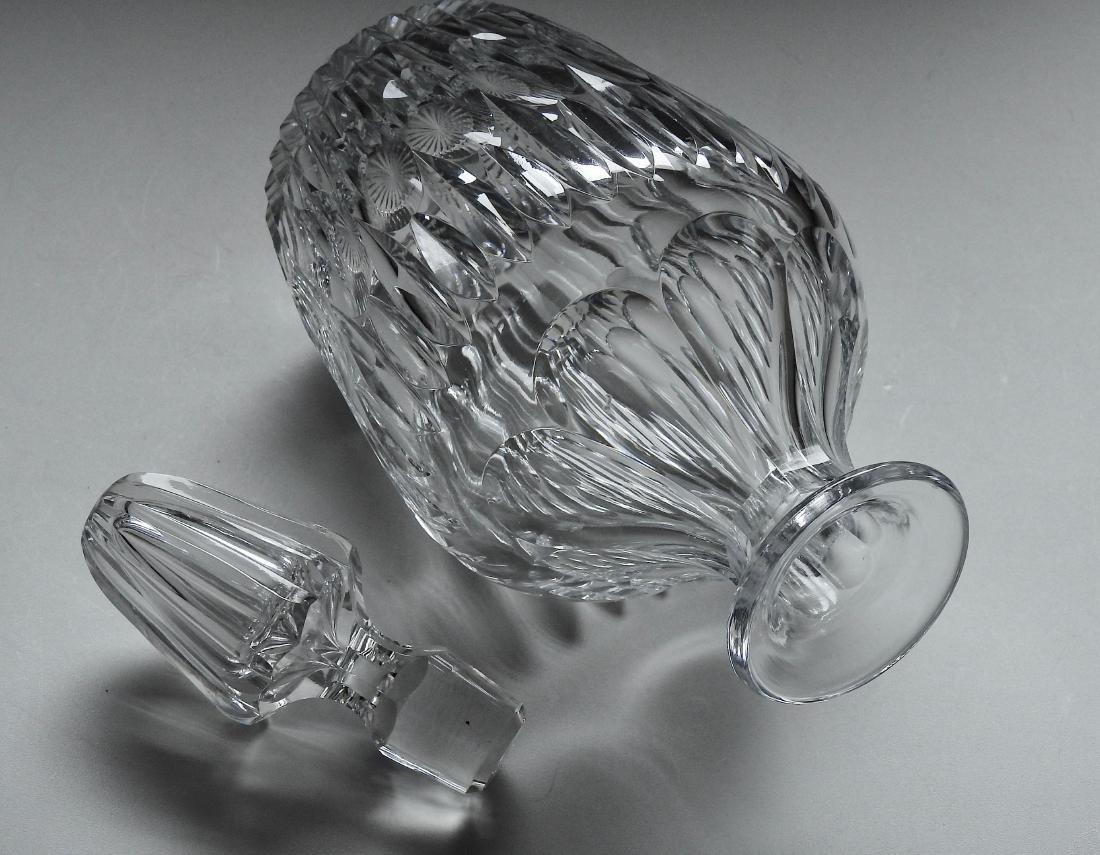 Quality Vintage Optical Glass Crystal Spirit Decanter - 2