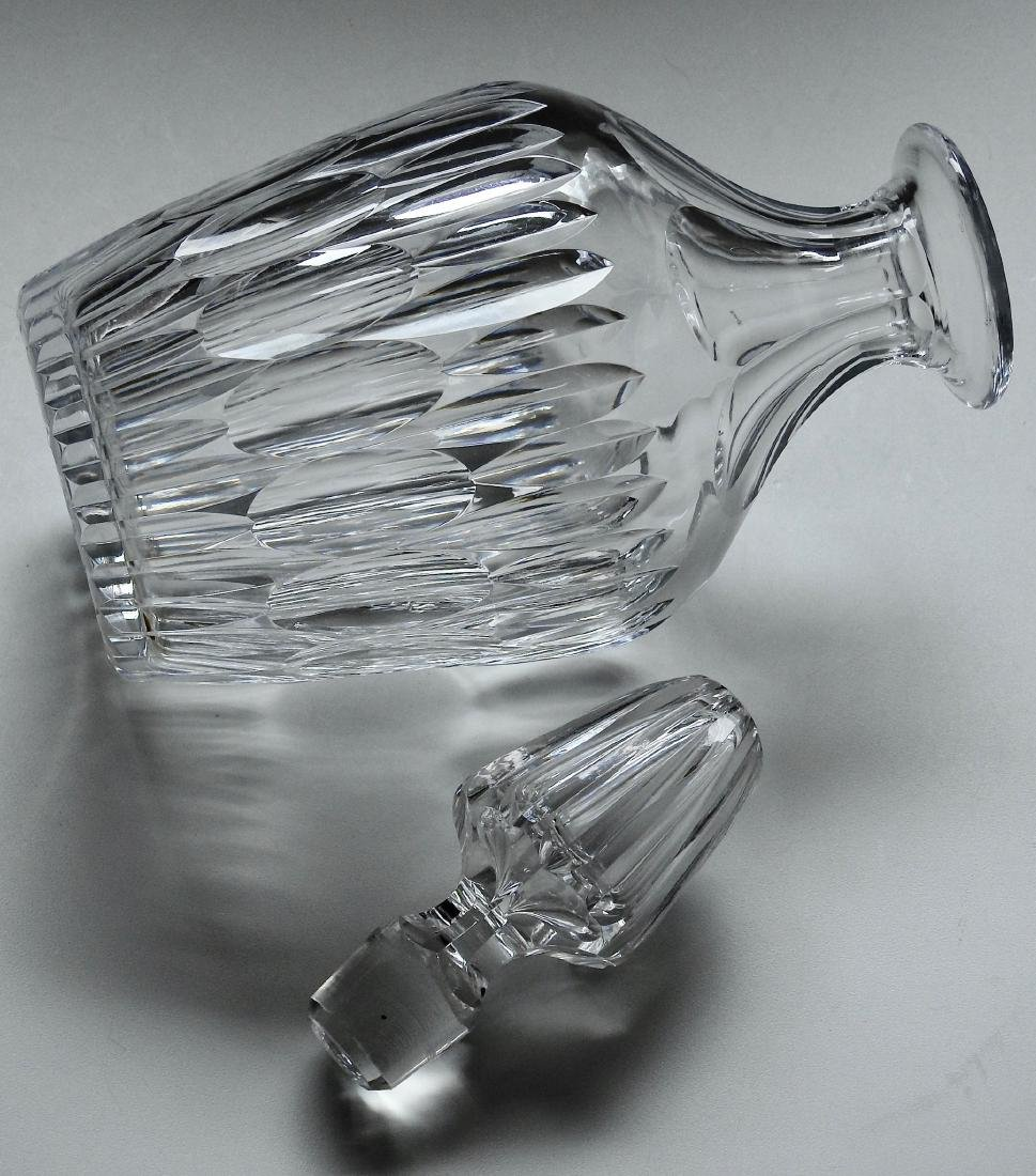Quality Vintage Optical Glass Crystal Spirit Decanter - 3