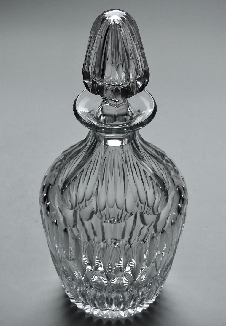 Quality Vintage Optical Glass Crystal Spirit Decanter - 6