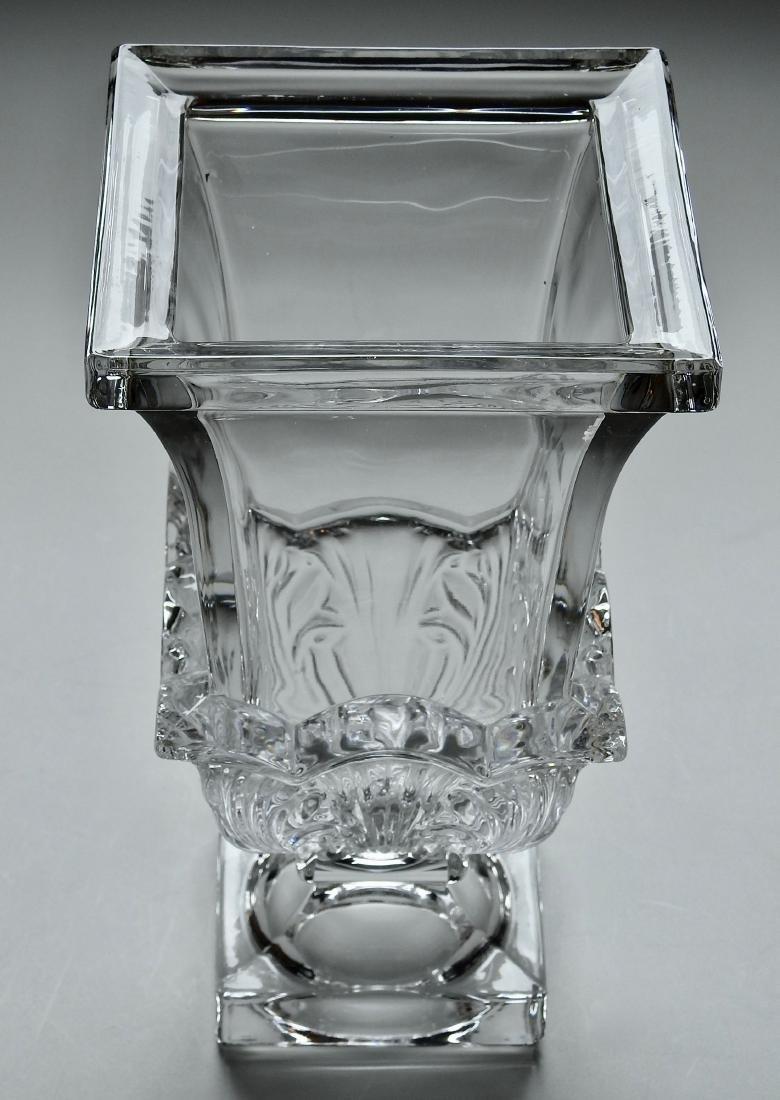 Large Impressive Vintage Pressed Glass Flower Vase