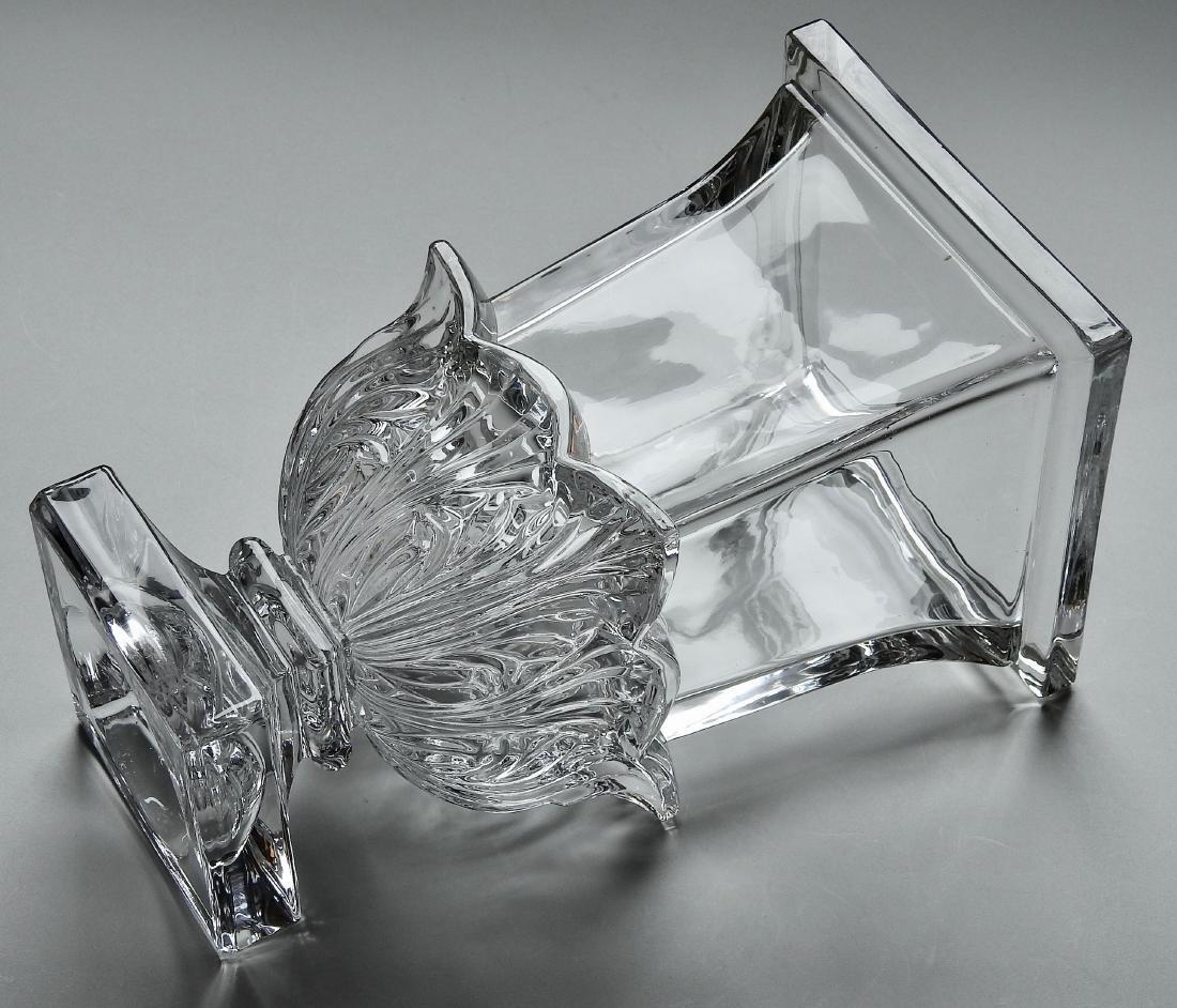 Large Impressive Vintage Pressed Glass Flower Vase - 3