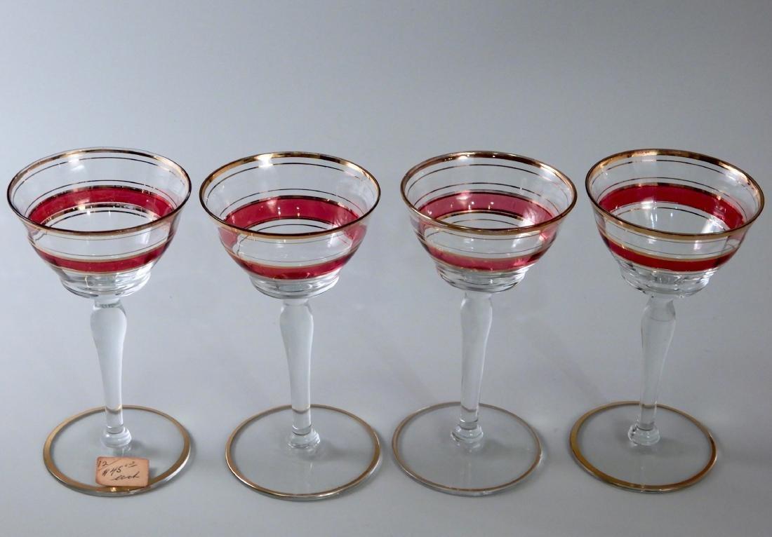 Vintage Art Deco Stemware Sherry Cocktail Glasses - 2