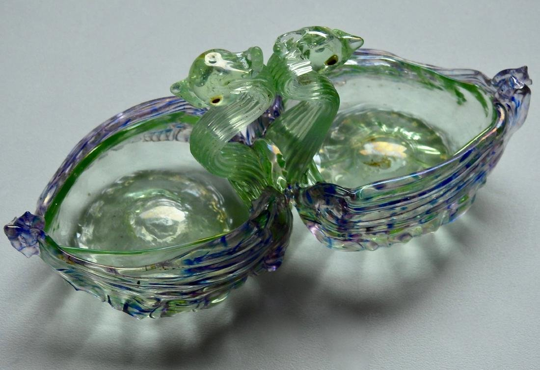 Vintage Venetian Opalescent Glass Master Salt Cellar - 2