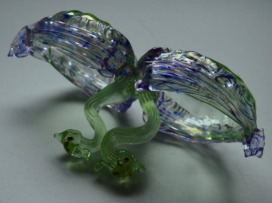 Vintage Venetian Opalescent Glass Master Salt Cellar - 5