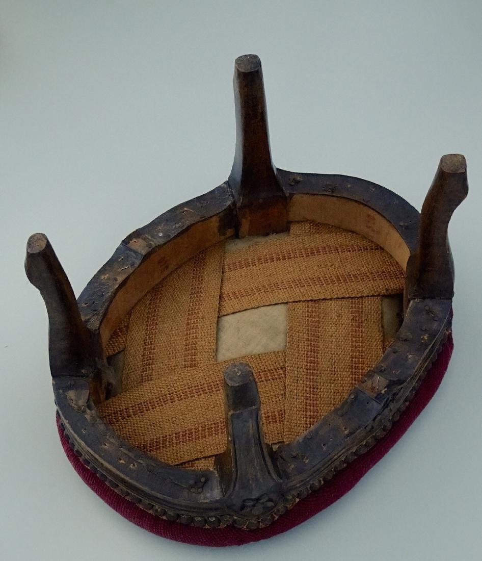 Louis XV Style Needlepoint Upholstered Footstool - 7