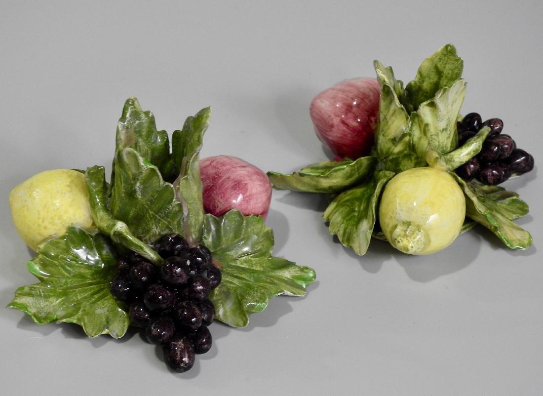 Vintage Italian Capodimonte Fruits Hand Made Porcelain - 2