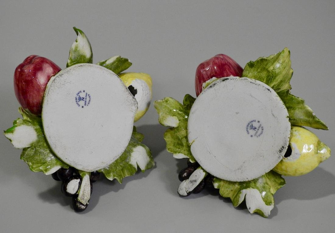 Vintage Italian Capodimonte Fruits Hand Made Porcelain - 4