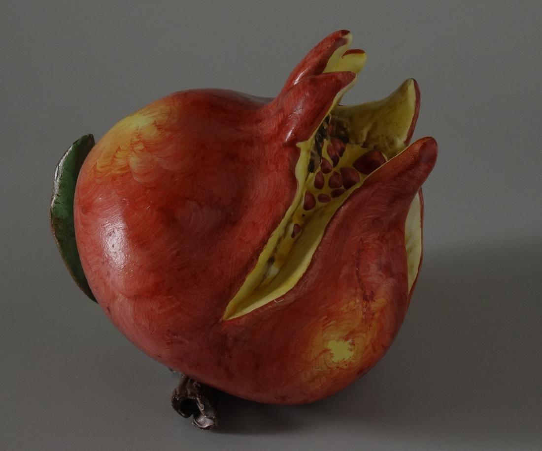 Art Studio Ceramic Hand Molded Painted Fruit