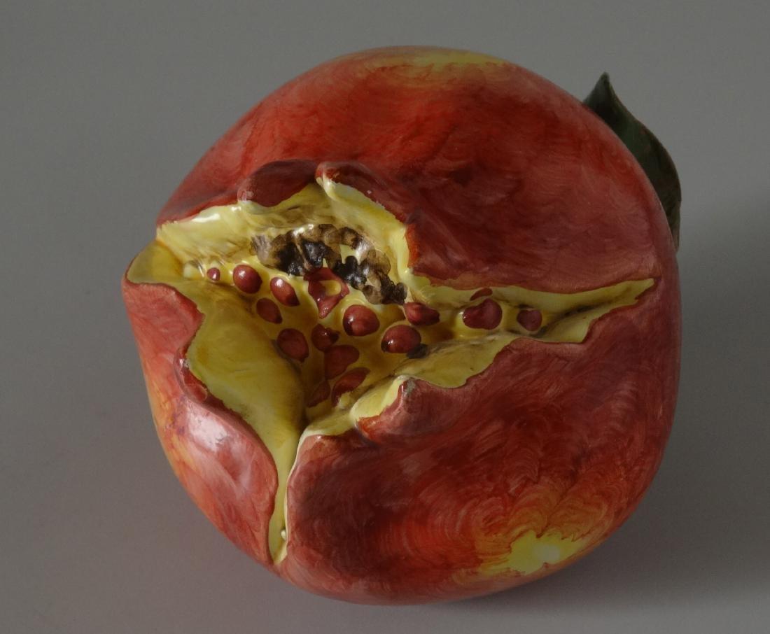 Art Studio Ceramic Hand Molded Painted Fruit - 3