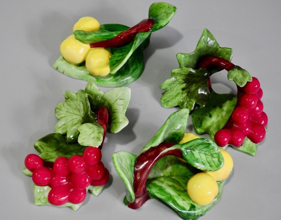 Ceramic Fruits Napkin Rings Lot of 4 - 3