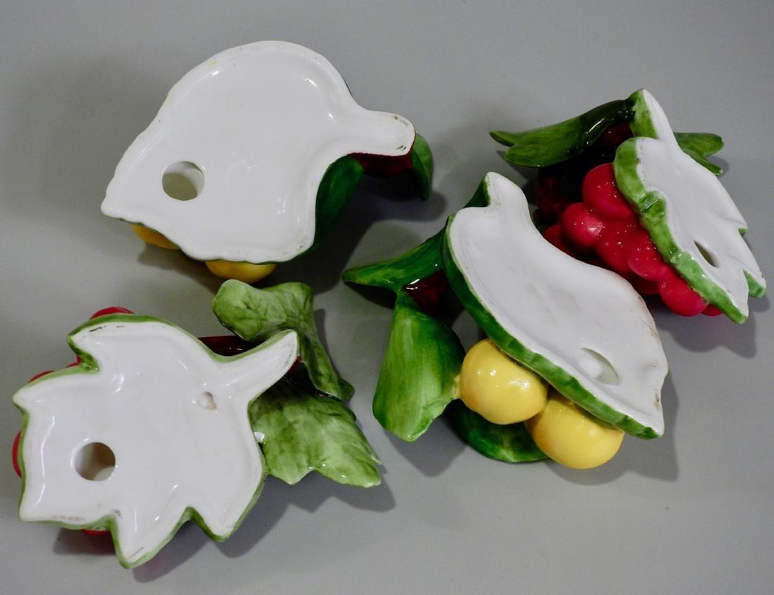 Ceramic Fruits Napkin Rings Lot of 4 - 4