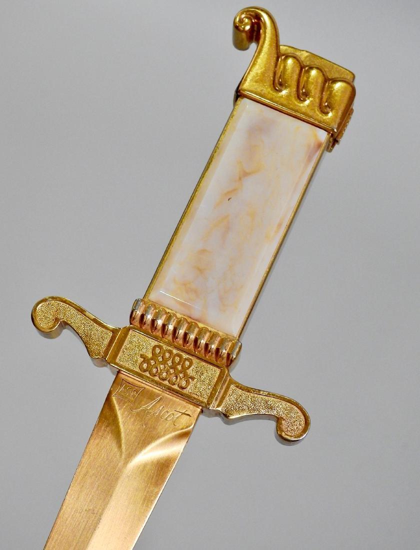 Vintage Ascot ASR Dagger Lighter Letter Opener - 2