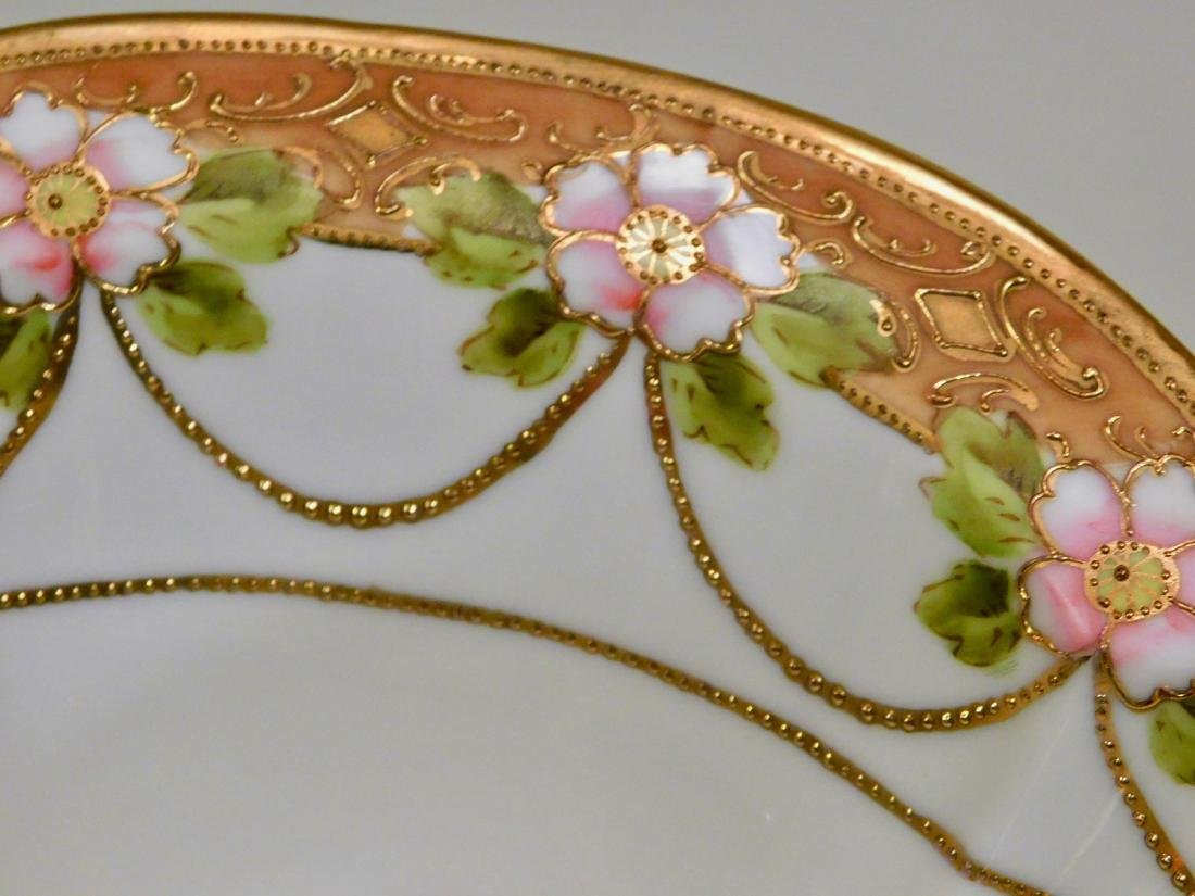 Hand Painted RC Nippon Porcelain Moriage Gilded Bowl - 4