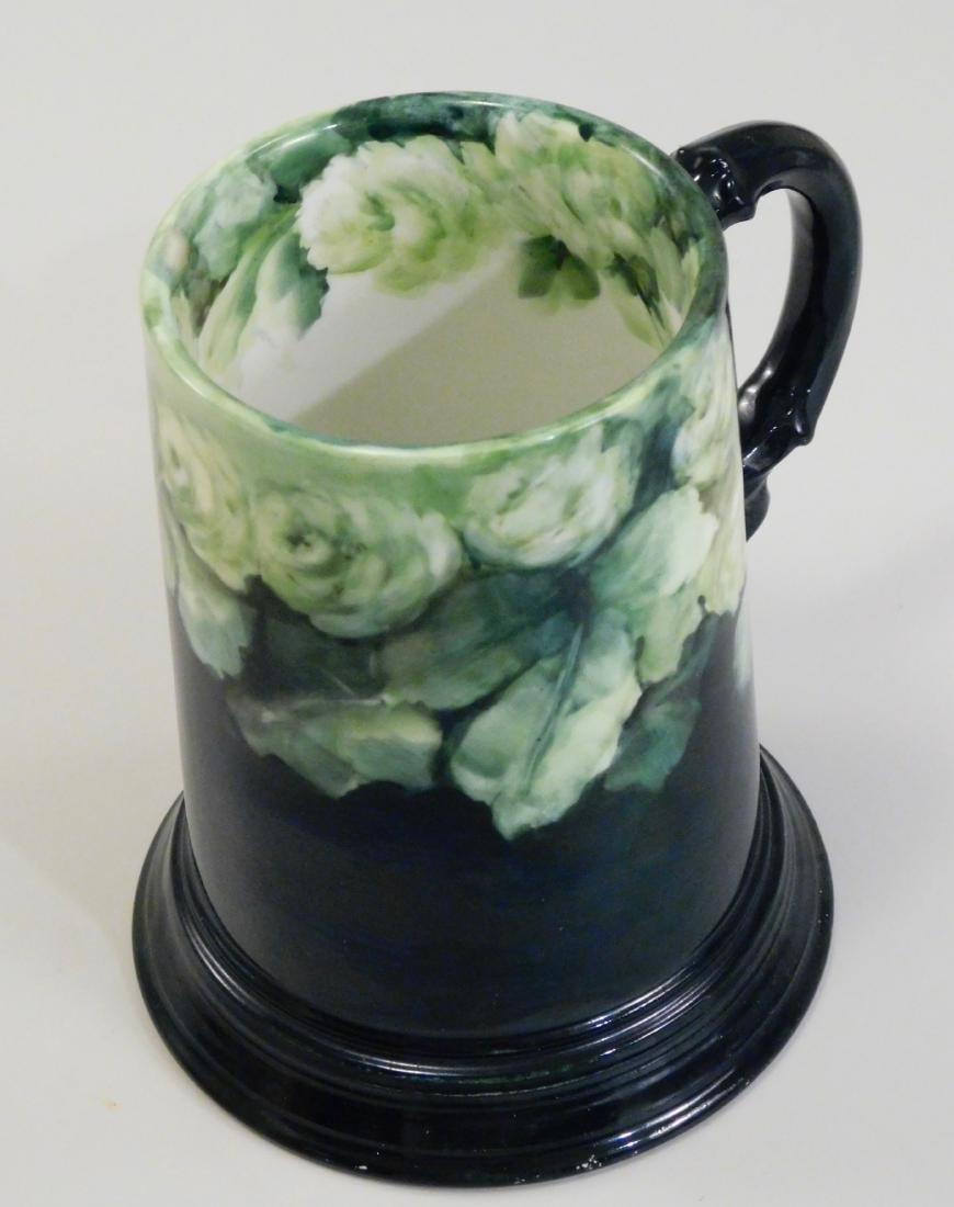 Pouyat JP Limoges French Porcelain Blank Beer Mug Green - 2