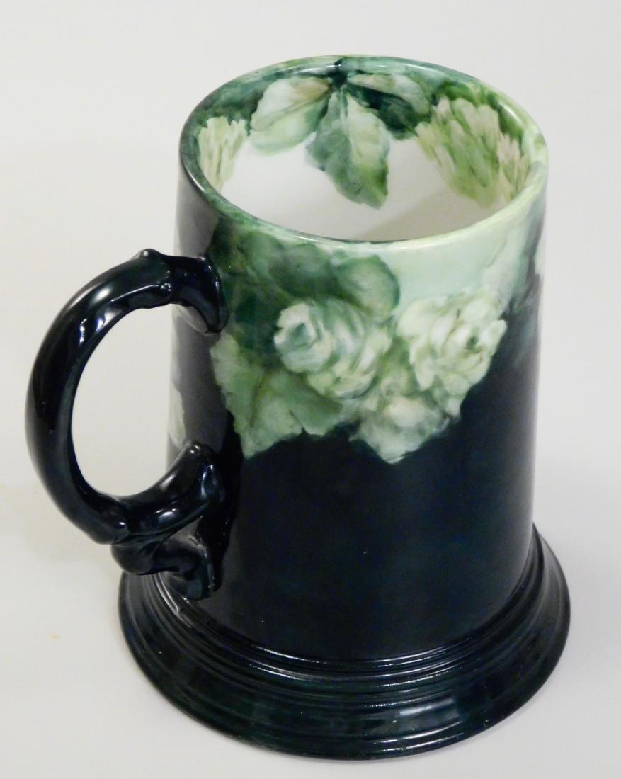 Pouyat JP Limoges French Porcelain Blank Beer Mug Green - 3