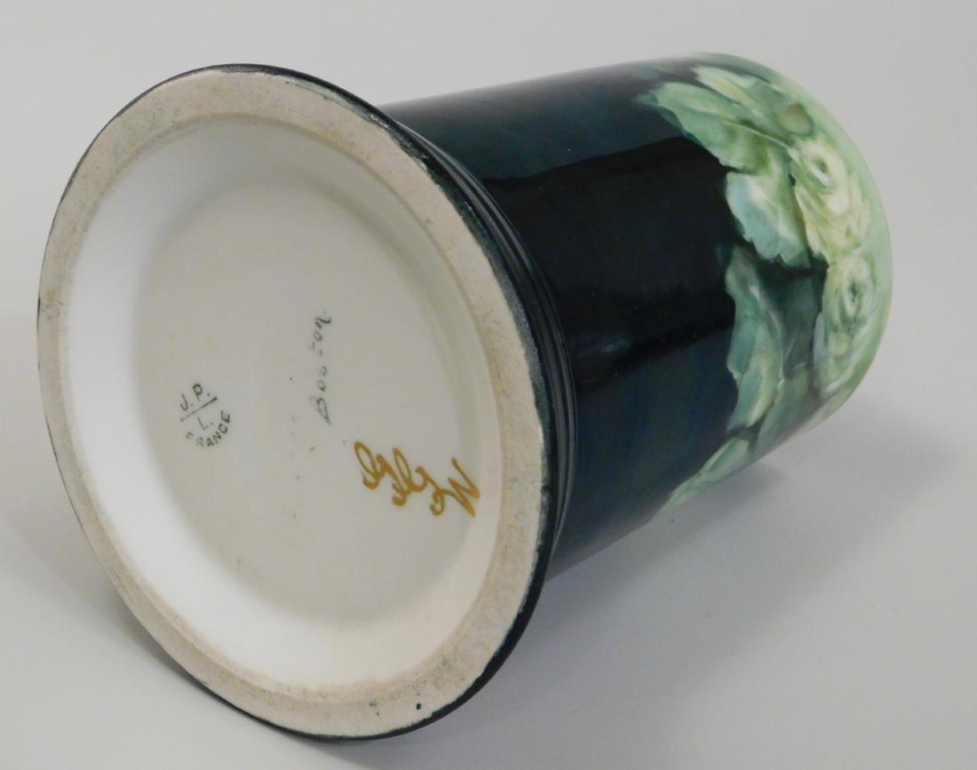 Pouyat JP Limoges French Porcelain Blank Beer Mug Green - 5