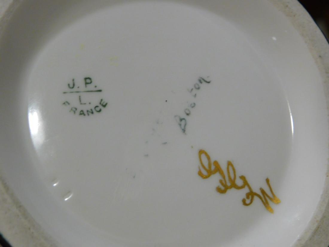 Pouyat JP Limoges French Porcelain Blank Beer Mug Green - 6