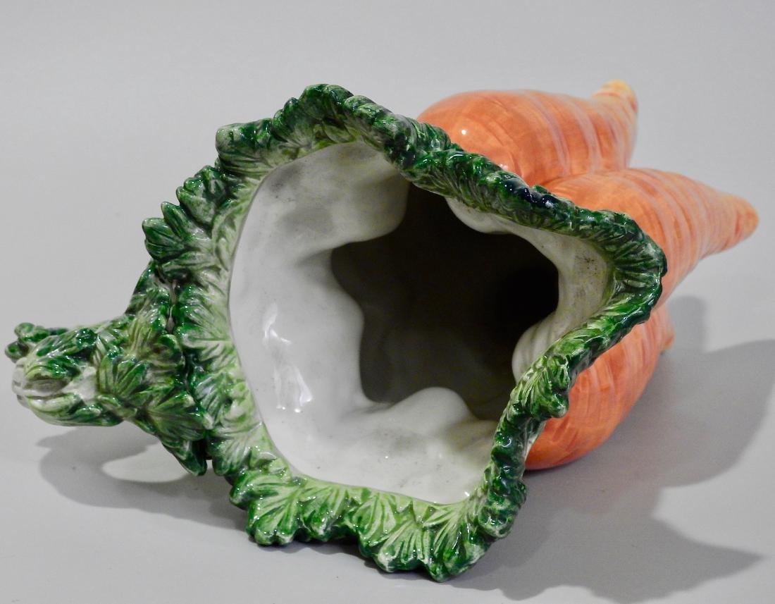 Large Botanical Designer Carrot Figural Pitcher - 4