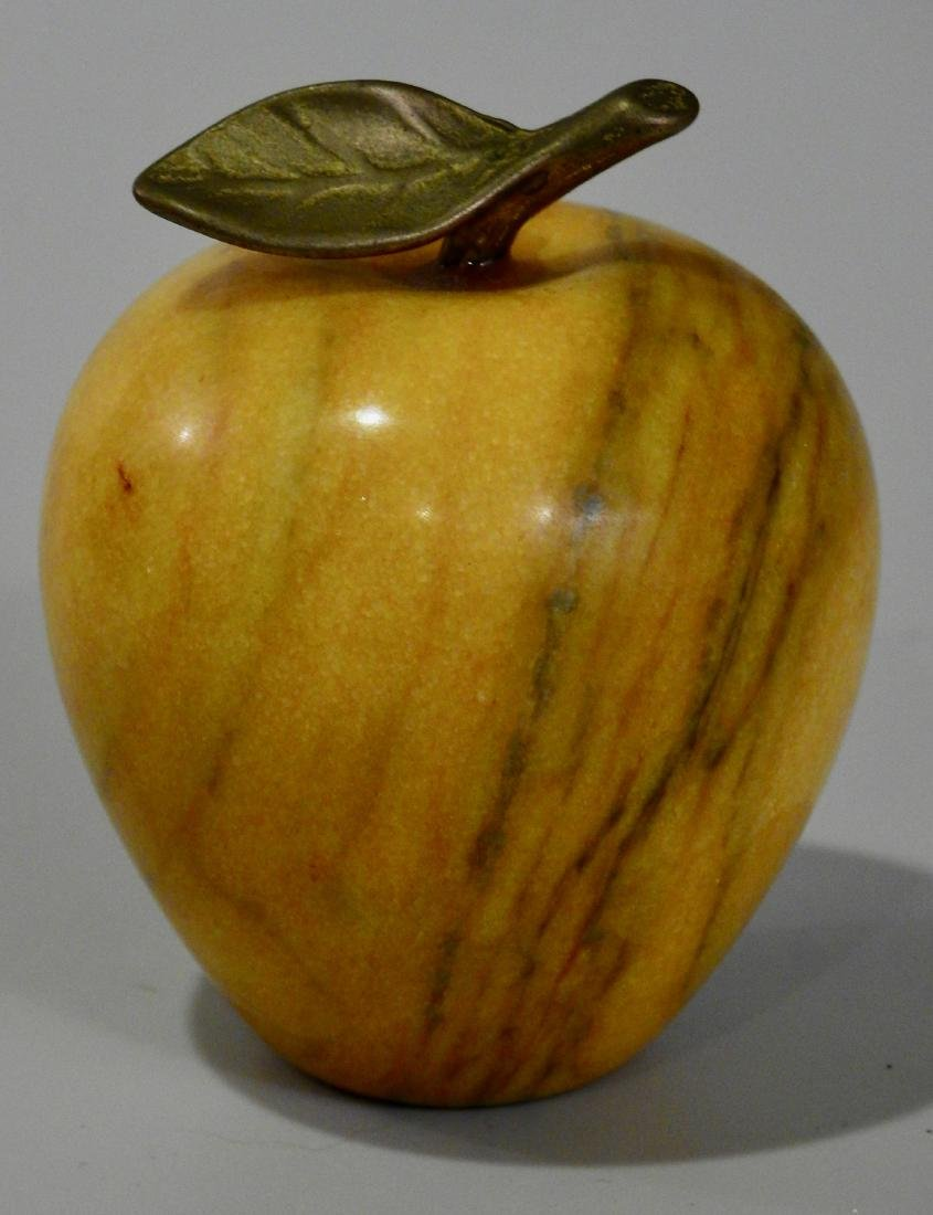 Solid Marble Carved Apple Ornament Paper Weight