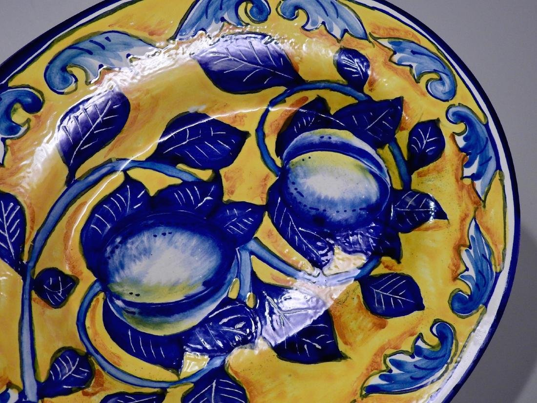 Amalfi Coast Italian Blue Lemon Oval Wall Plaque - 3