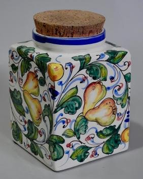 Mediterranean Italian Majolica Pottery Pear Kitchen
