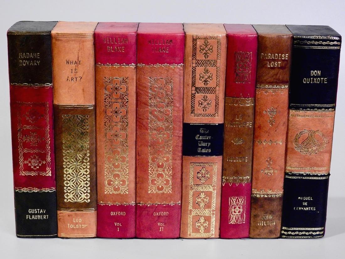 Faux Books Shelf Hide Designer Decorative Leather Bound - 4