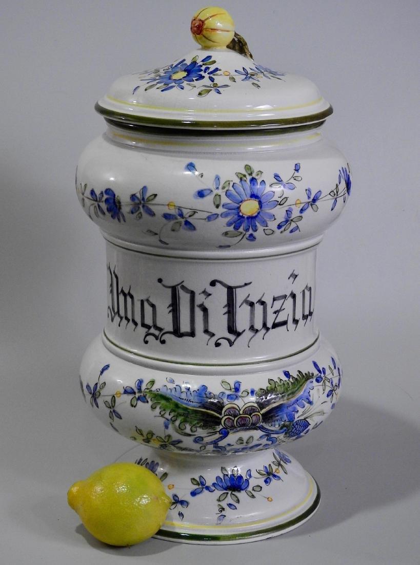 Very Large Italian Pottery Apothecary Jar Albarello