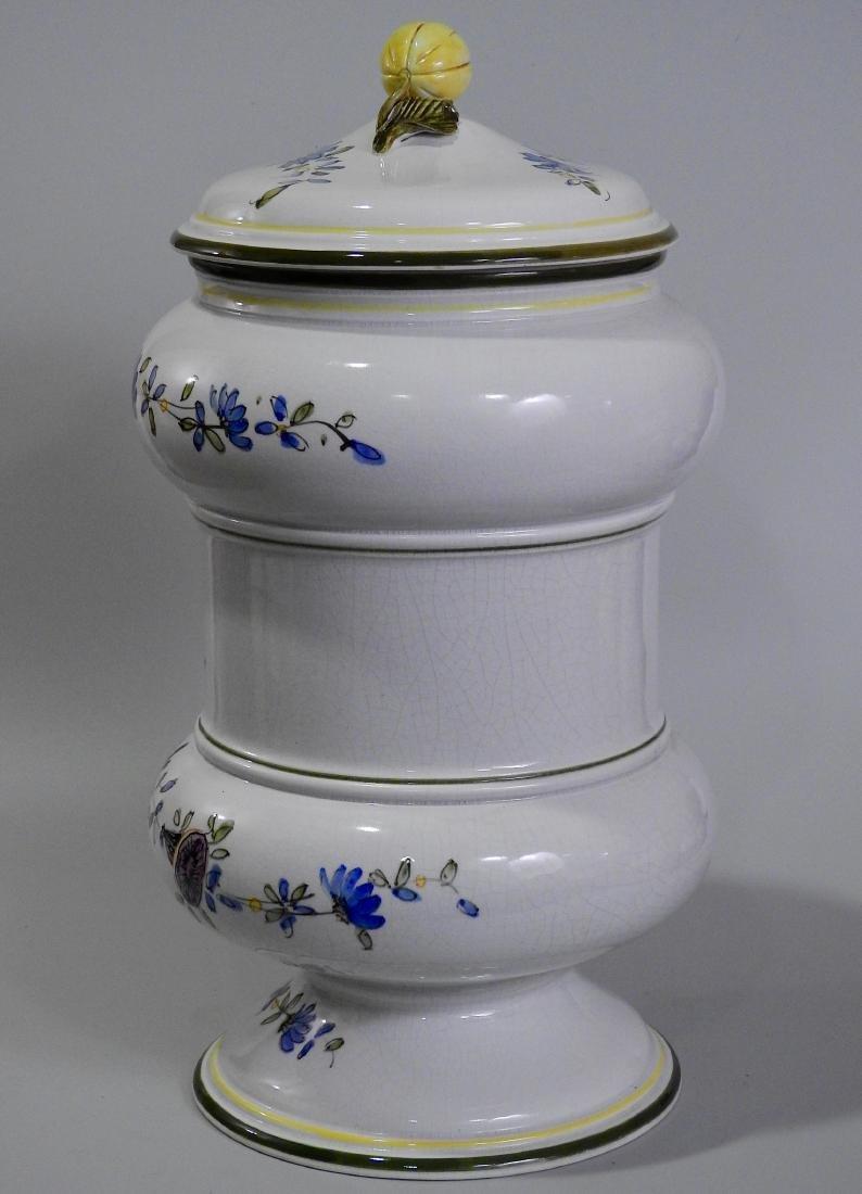Very Large Italian Pottery Apothecary Jar Albarello - 3