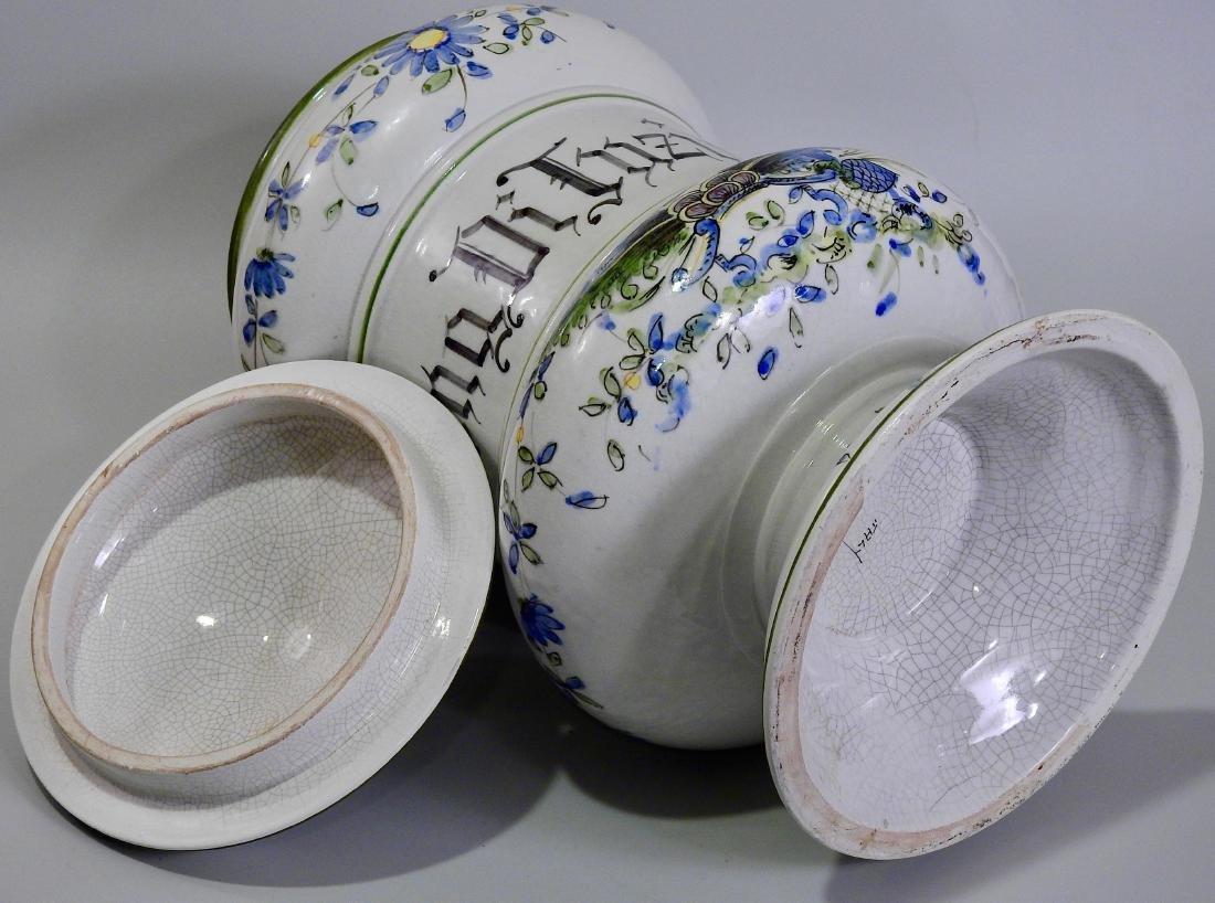 Very Large Italian Pottery Apothecary Jar Albarello - 6