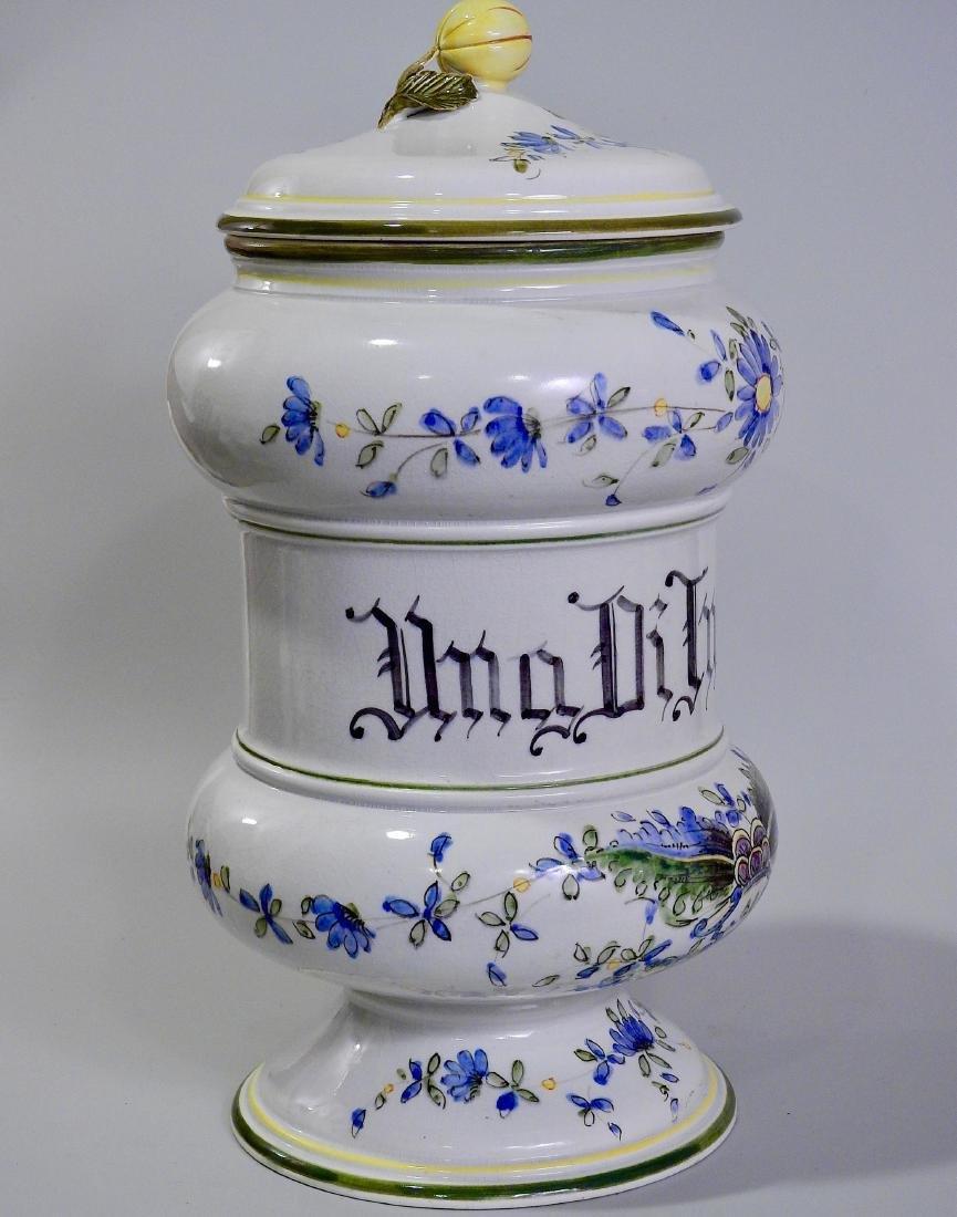 Very Large Italian Pottery Apothecary Jar Albarello - 8