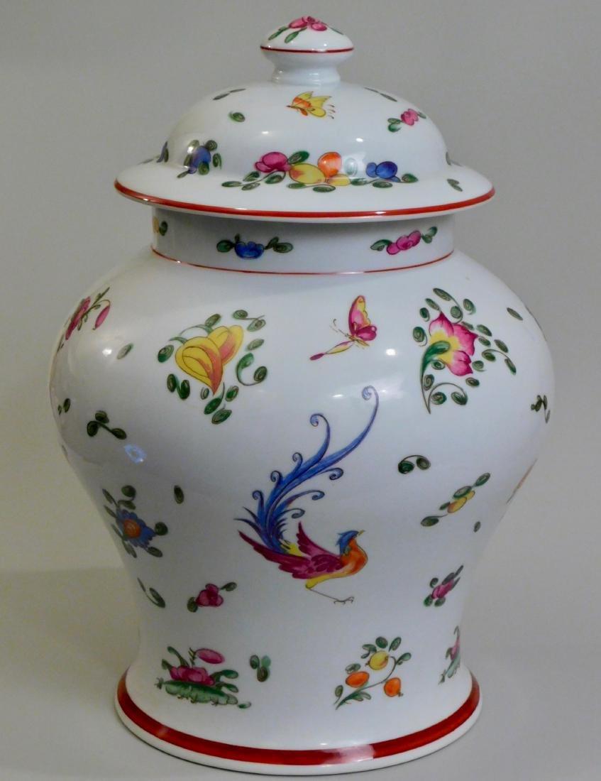 Large French Limoges Chamart Porcelain Lidded Vase