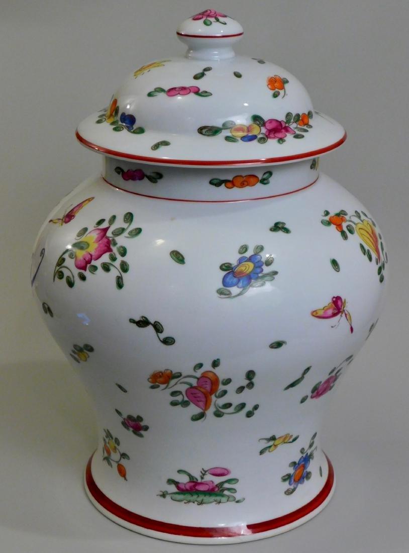 Large French Limoges Chamart Porcelain Lidded Vase - 2