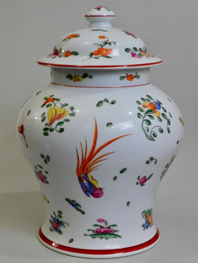 Large French Limoges Chamart Porcelain Lidded Vase - 3