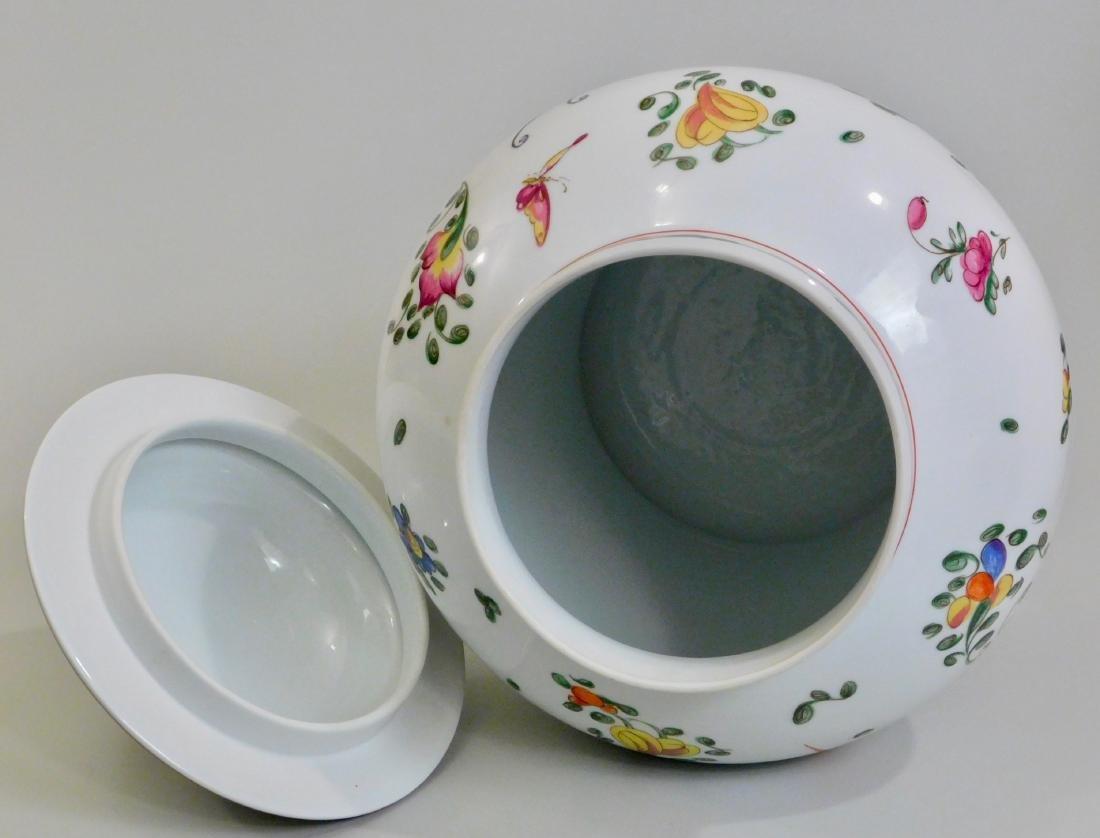 Large French Limoges Chamart Porcelain Lidded Vase - 4