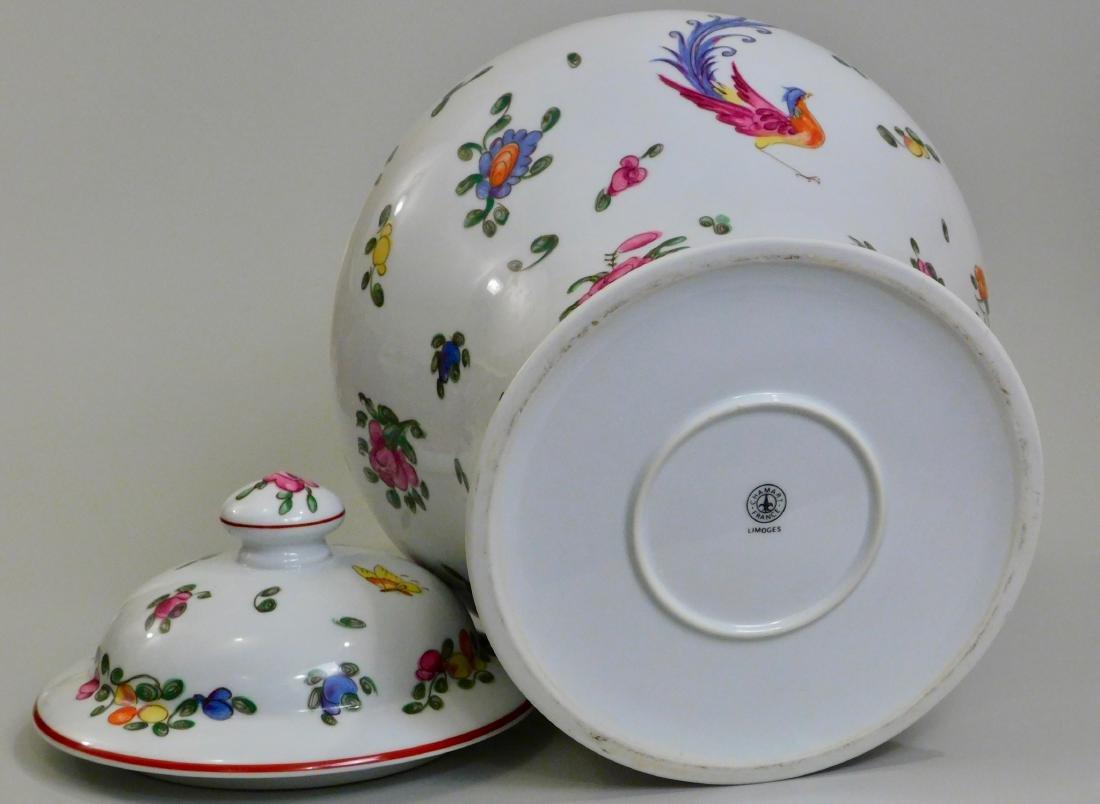 Large French Limoges Chamart Porcelain Lidded Vase - 5