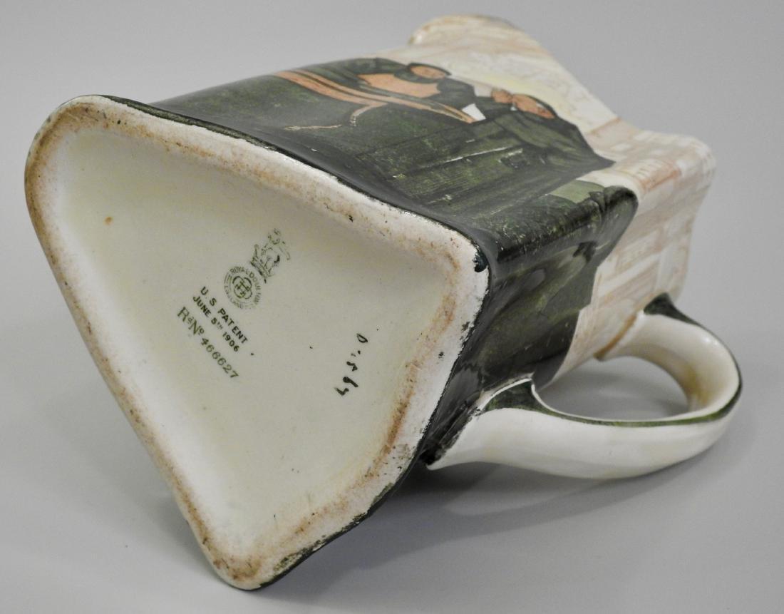 Antique Royal Doulton Noke Beckett Monk Jug Triangular - 5