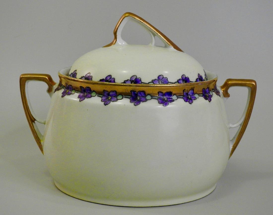 Antique KPM Painted Porcelain Art Nouveau Tureen
